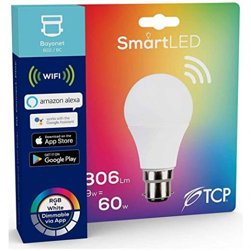 TCP Smart  LED WiFi Lightbulb 9W BC Warm White & Colour Changing  (806 lumens) 290424